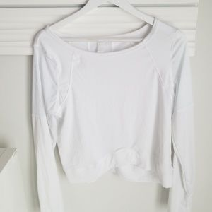Long sleeve shirt M crop top